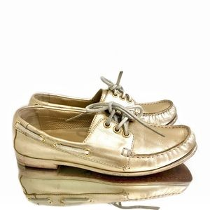 Cole Haan Gold Boat Shoes